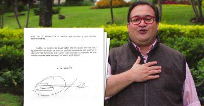 Congreso veracruzano rechaza carta de Javier Duarte