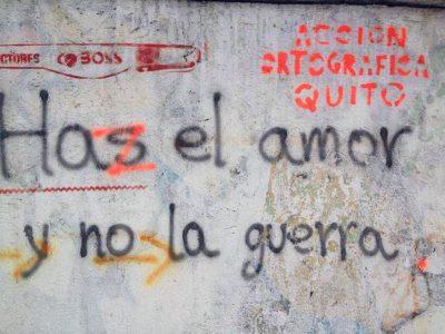 Grupo se dedica a corregir los errores ortográficos en los graffitis de las calles