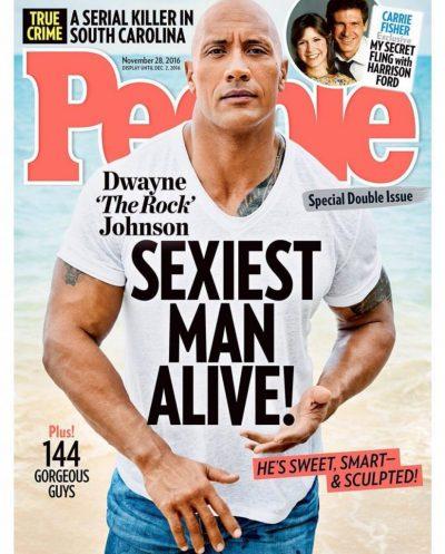 Dwayne 'La Roca' Johnson es el hombre más sexy del mundo