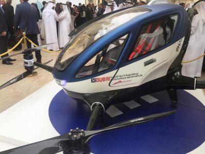 Taxi-dron: Crean el futuro del transporte eléctrico.