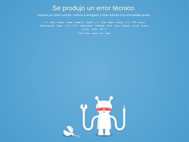 Se cae Twitter; reportan falla intermitente