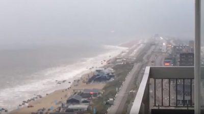Un 'mini tsunami' sacude las costas de Holanda