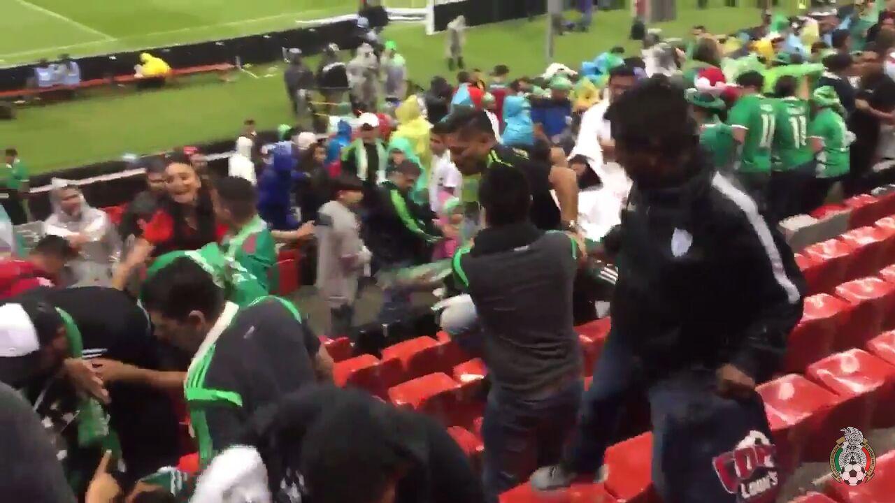 Padre de Marco Fabián, protagonizó pelea en el partido México-EUA ...