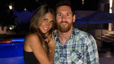 Messi y Antonella dan una probadita de su luna de miel