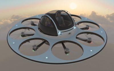 Empresa de Italia crea insólito drone con forma de OVNI