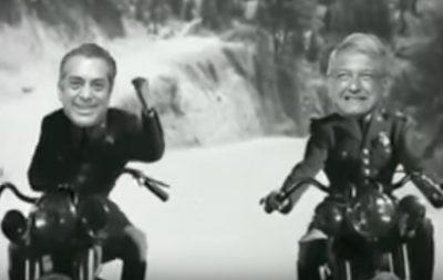 AMLO y El Bronco cantan 'Parece que nos va a llover en el 2018'