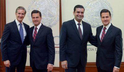 EPN recibe en los Los Pinos a los Gobernadores Alfredo del Mazo y Echevarría