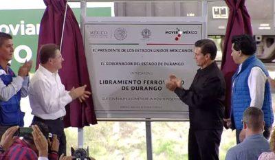 EPN inaugura el Libramiento Ferroviario en Durango