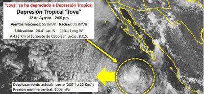 Tormenta tropical Jova provoca inundaciones y caidas de árboles en Mazatlán