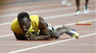 Usain Bolt sufre impactante lesión en su última carrera y despedida en Londres (Video)