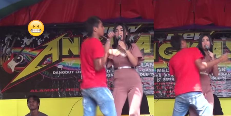 Borracho busca seducir a una cantante y termina pasando la vergüenza de su vida (VIDEO)
