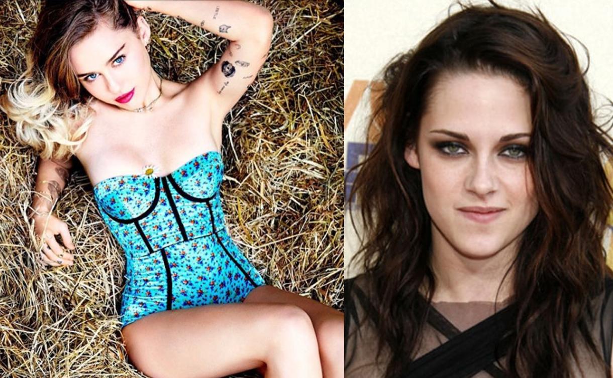 Revelan fotgrafías íntimas de Miley Cyrus y Kristen Stewart (FOTOS)
