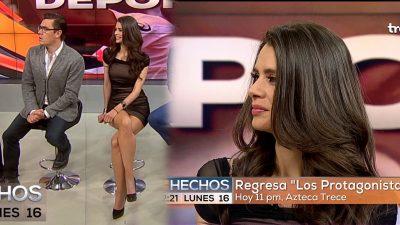 Corren a Rebeka Zebrekos de Tv Azteca por no enseñar de más