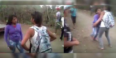Chavas se agarran a golpes por el amor de un hombre (VIDEO)