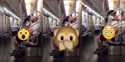 Fanáticos de los Yankees tienen sexo a la vista de todos en el metro (VIDEO)