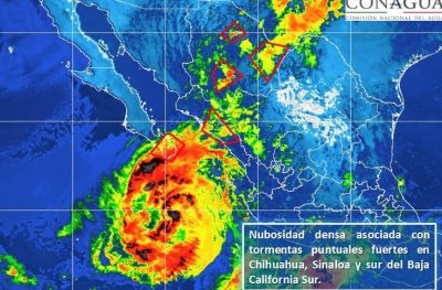 Huracán Norma toma rumbo hacia el norte del país como categoría I