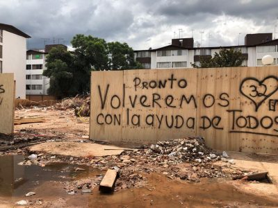 """""""Pronto volveremos"""": El mensaje que une a todos los que perdieron su hogar"""