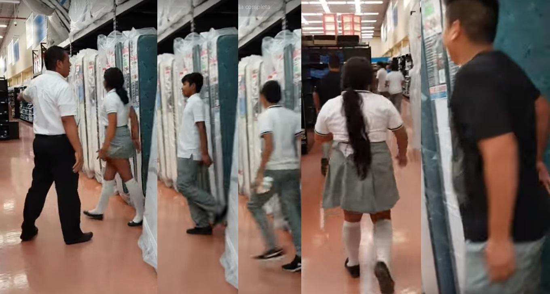 (VIDEO) 5 adolescentes se esconden entre los colchones de Walmart