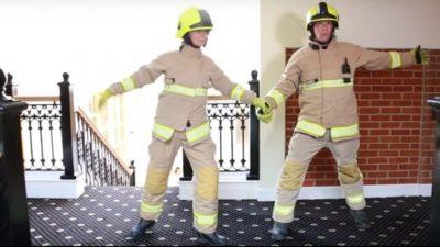 Bomberos realizan singular campaña para prevenir incendios (VIDEO)