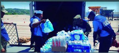 La Armada de México traslada ayuda humanitaria a Oaxaca y Chiapas