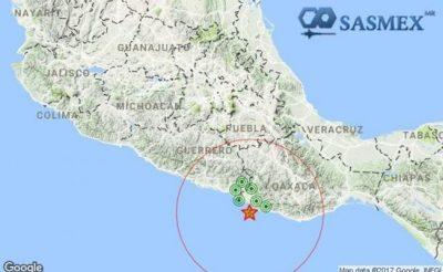 Sismo de 5.0 grados es reportado con epicentro en Oaxaca