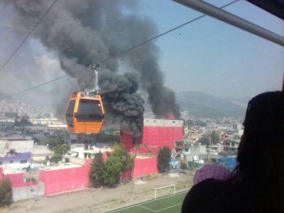 Incendio de fábrica en Ecatepec