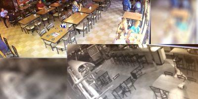 Captan a fantasma deambulando y aterrorizando a comensales en un restaurante (VIDEO)