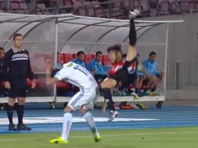 ¡Auch! Terrible caída en el fútbol chileno (VÍDEO)