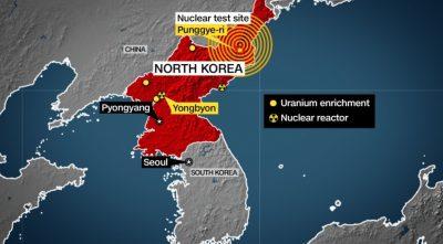 Corea del Norte lleva a cabo pruebas nucleares y afecta a la Tierra