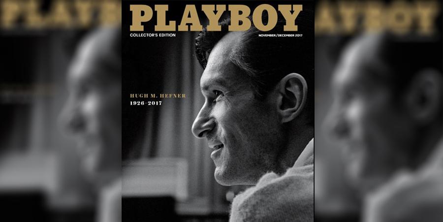 Playboy por primera vez pone en portada a un hombre, en honor a su fundador Hugh Fefner