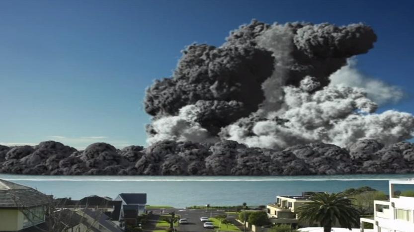 Resultado de imagen para (VIDEO) Erupción de un volcán submarino acaba la ciudad más poblada de Nueva Zelanda.