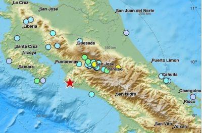 Terremoto de 6.8 grados sacude a Costa Rica