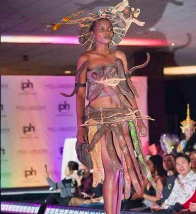 !El vestido de Miss Tanzania era hermoso! Pero las burlas no se hicieron esperar
