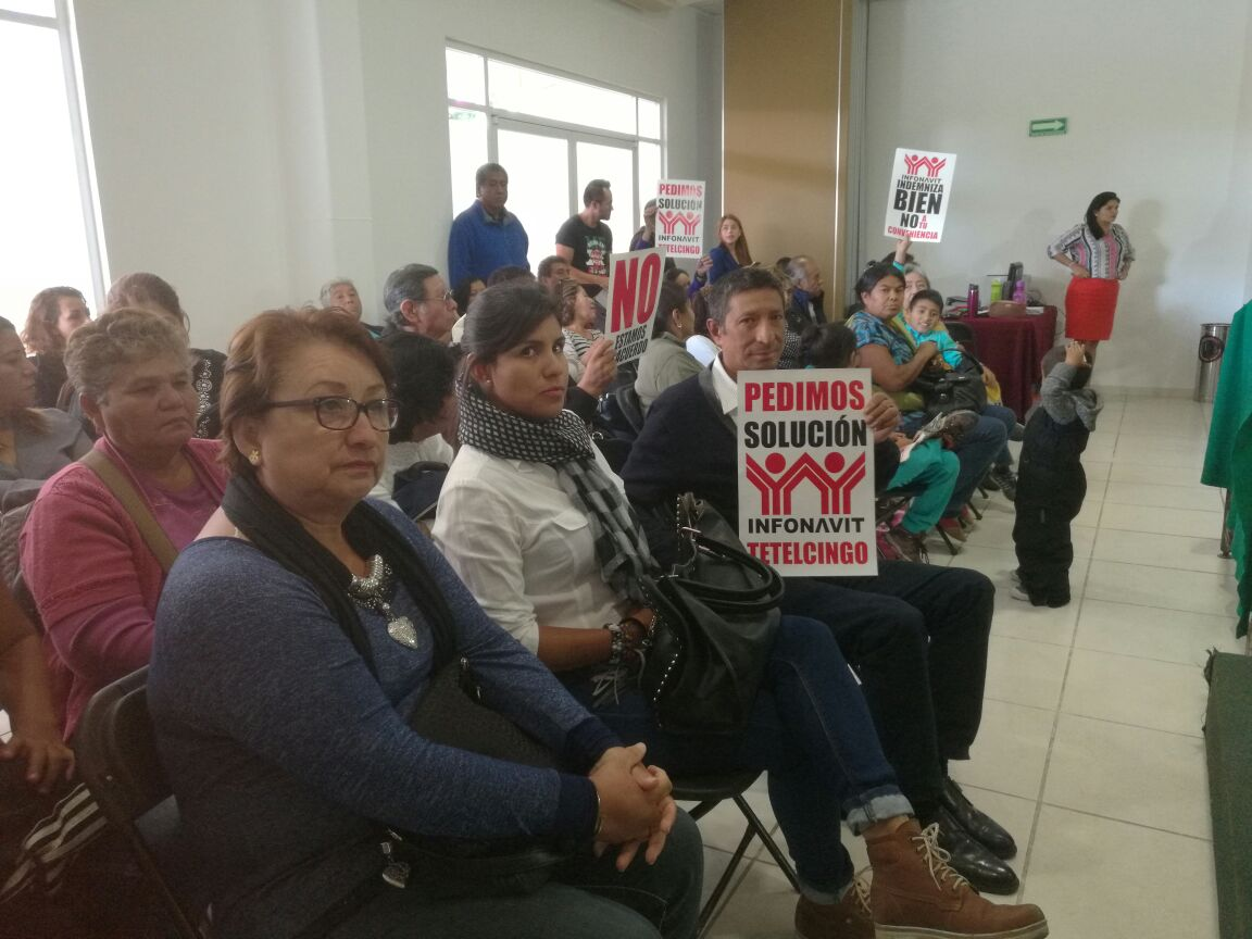 Damnificados de Tetelcingo denuncian finiquitos miserables de INFONAVIT
