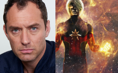 Jude Law aparecerá como Capitán Marvel en la película de superhéroes protagonizada por Brie Larson