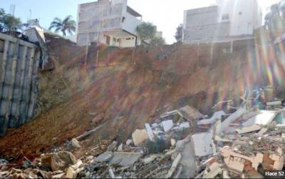 Derrumbe en Monterrey deja un muerto y una persona desaparecida (VIDEO)