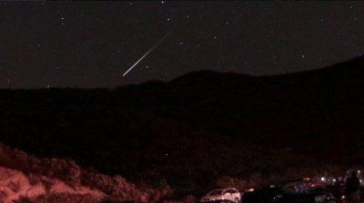 Meteoro impacta en Arizona y todos se quedan petrificados (Video)