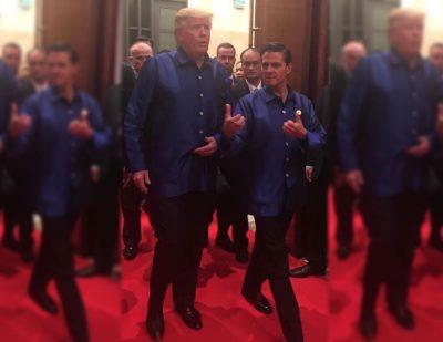 Peña Nieto y Tump vestidos igual ¿coincidencia o tradición?