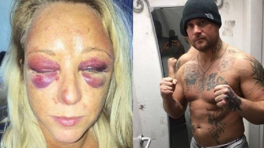 Violenta agresión de un boxeador a su novia — Reino Unido