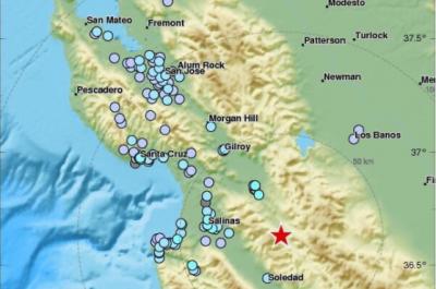 Sismo de magnitud 4.7 sacude a California, Estados Unidos