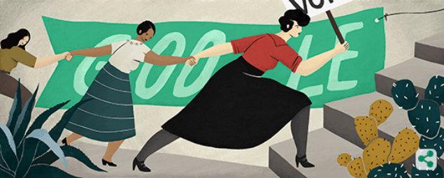 Conoce el doodle dedicado a la mexicana que logró darle voto a la mujer