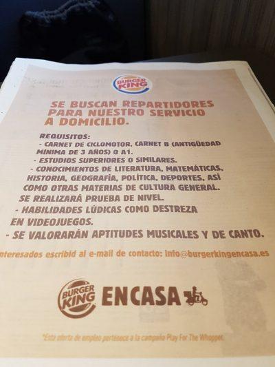 'Destreza en videojuegos' requisito en famoso restaurante de comida rápida (FOTO)