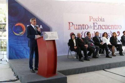 Tony Gali inaugura Punto de Encuentro de Culturas en Puebla