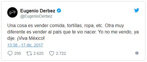 'Me prometieron 600 mil pesos por tres tuits para el PRI': Eugenio Derbez