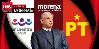 Se alista el registro ante el INE de la coalición entre MORENA, PT y PES