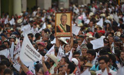 Morena hace su agosto con el registro de Andrés Manuel López Obrador (FOTOS)