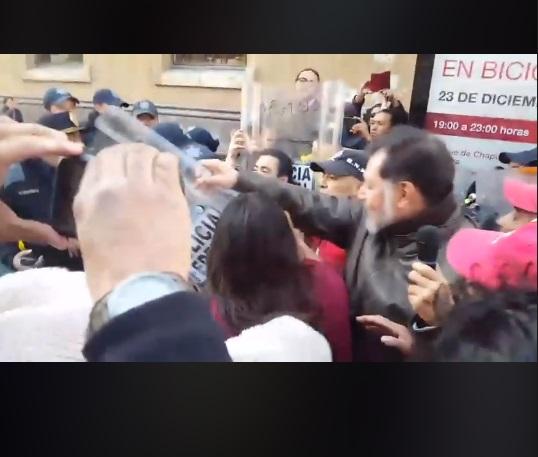 Integrante del Estado Mayor Presidencial lastima a una anciana en video