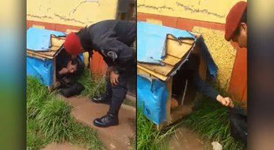 Borracho roba la casa de un perro para tener donde dormir (VIDEO)