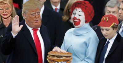 Donald Trump jura lealtad a la comida grasienta y se vuelve viral