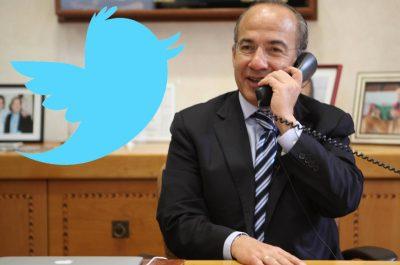 Le bloquean Twitter a Felipe Calderón tras compartir vídeo contra AMLO